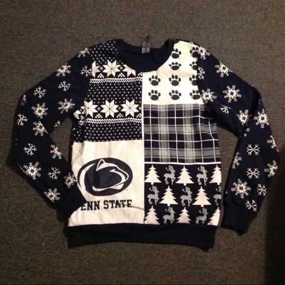 Tops Penn State Ugly Christmas Sweater Sweatshirt M Poshmark